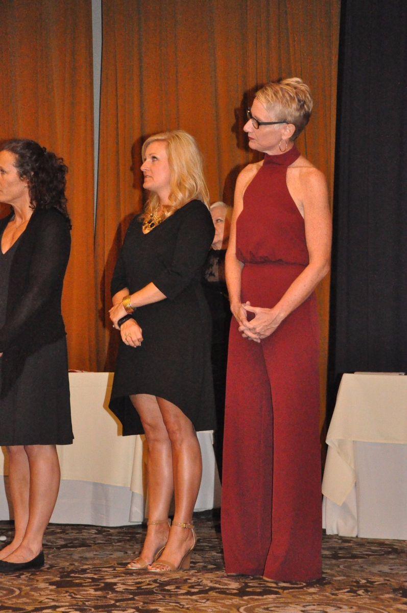 Ms. Lofaro accepts her award