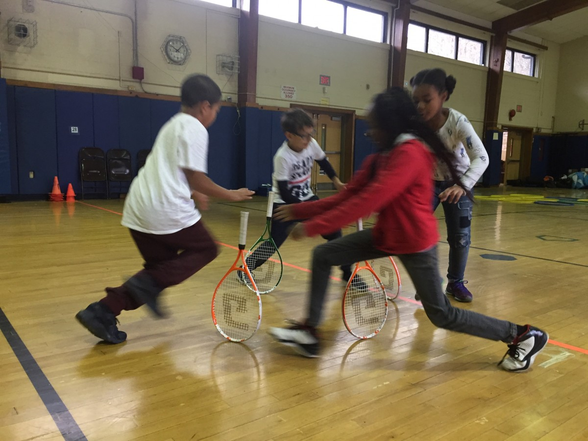Thumbnail for Tennis in Schools Program currently running FREE tennis programs in all 9 of our elementary schools!