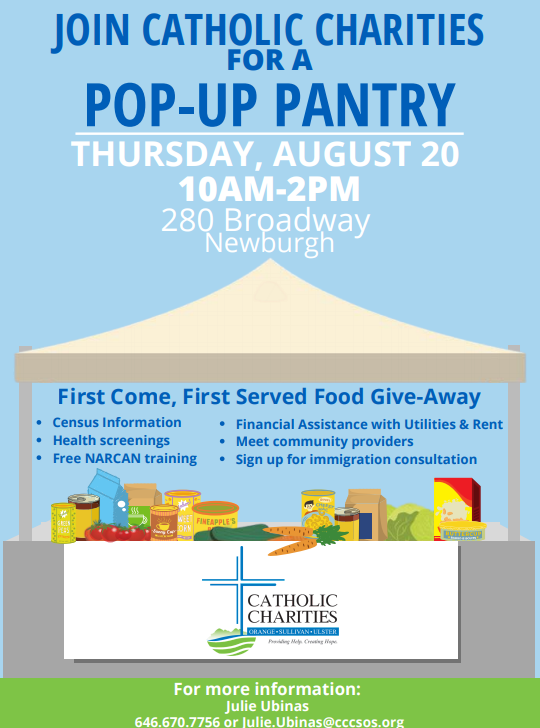 Thumbnail for Pop-Up Pantry Hosted by Catholic Charities - Thursday, August 20