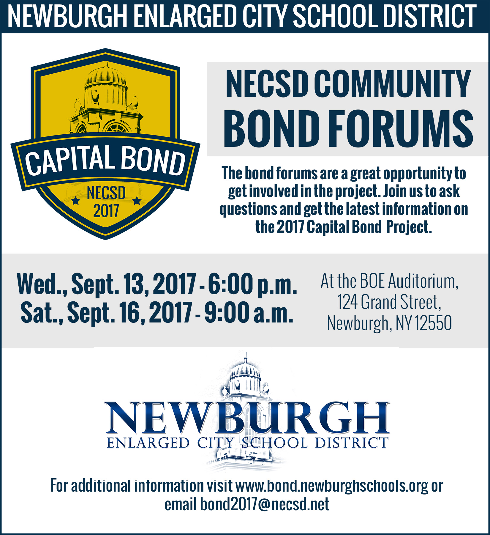 bond forum dates