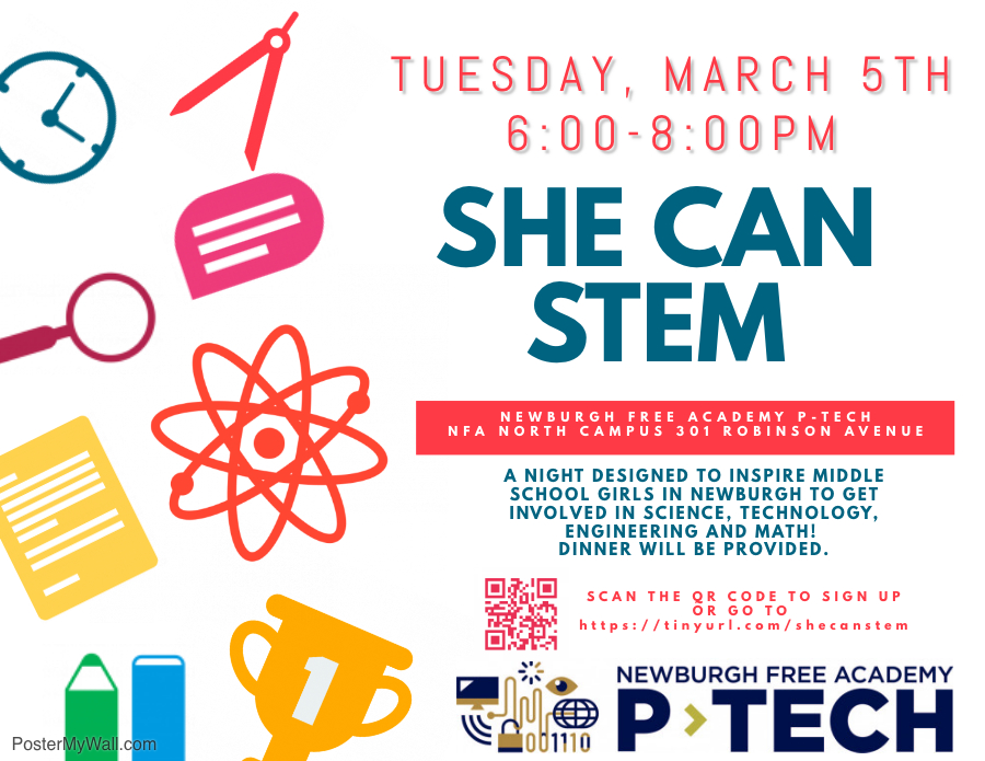 Thumbnail for NFA P-TECH Invites Middle School Students to Participate In She Can STEM Event