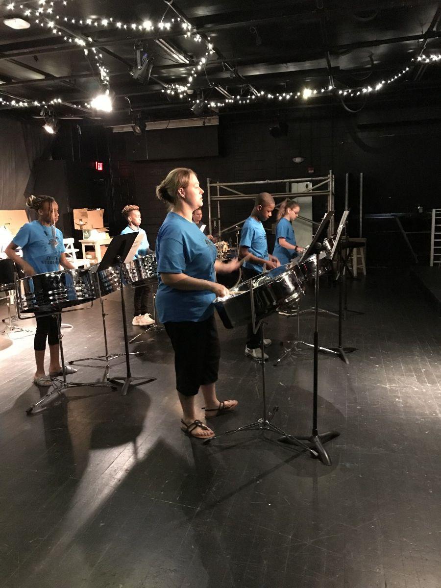 Students rehearsing.
