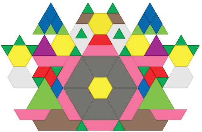 Geometric creation by Fostertown artist, Isaiah Foreman