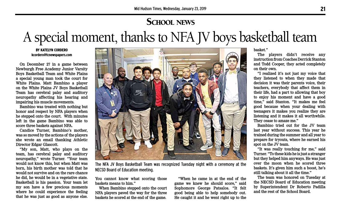 Goldbacks in the News! NFA JV Boys Basketball Team Plays with Heart Take a  moment to read the full article! 9105a850dc