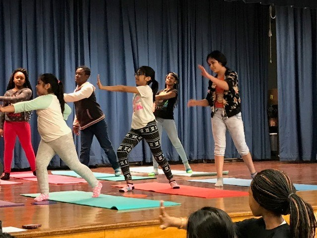 Thumbnail for Namaste from GAMS - Gidney Avenue Memorial School Scholars Put on Showcase!