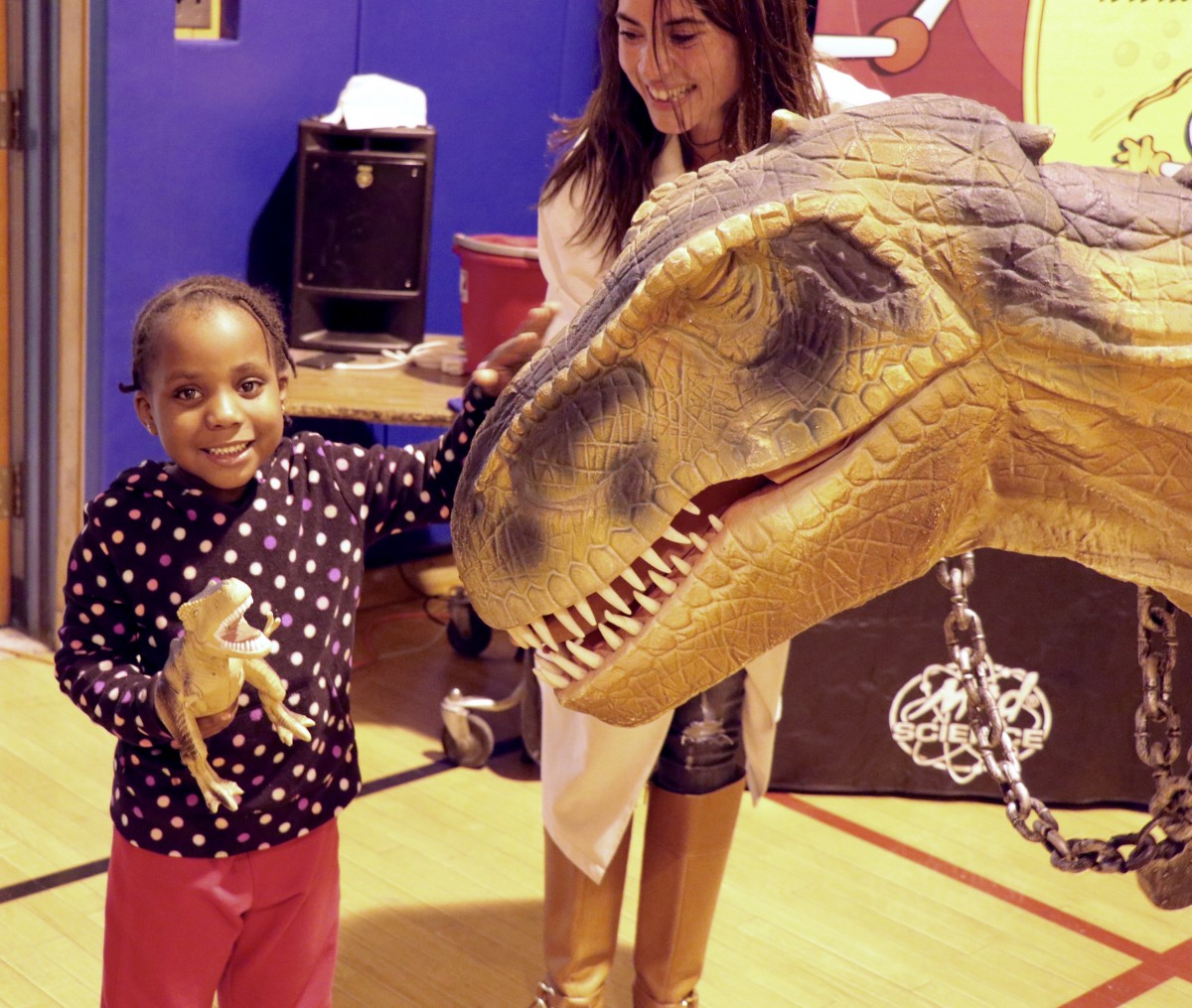 Thumbnail for Twelve foot T-Rex roams halls of GAMS