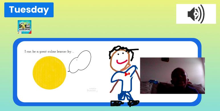 Screenshot of student work.