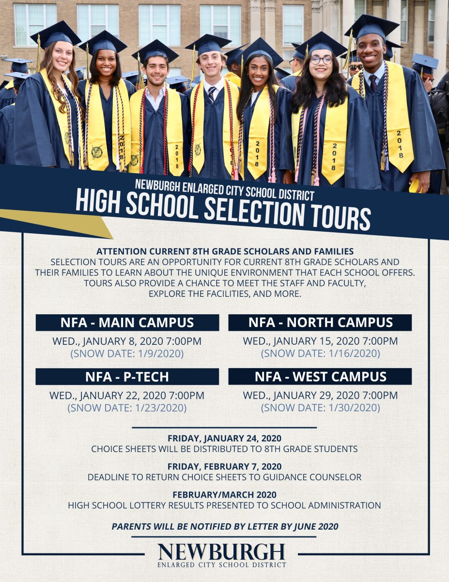 Thumbnail for Attention Current 8th Grade Scholars and Families! High School Selection Tour Information