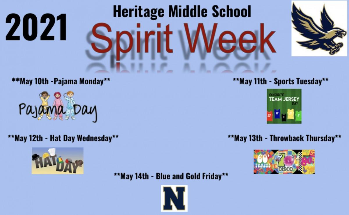 Thumbnail for Heritage Middle School Spirit Week - 2021