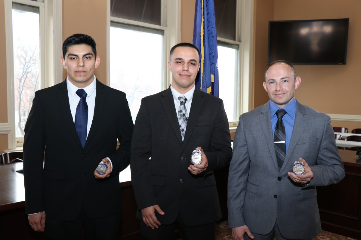 7b6b46a8569 City of Newburgh Police Department Welcomes Three NFA Graduates The new  officers