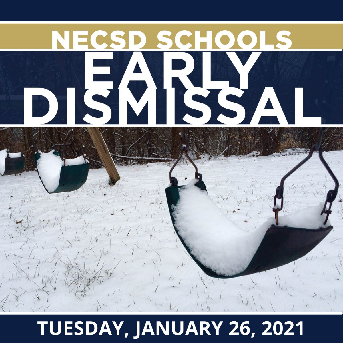 Thumbnail for Early Dismissal - Tuesday, January 26, 2021