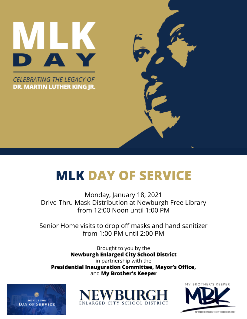 Thumbnail for MLK Day of Service, Monday, January 18, 2021