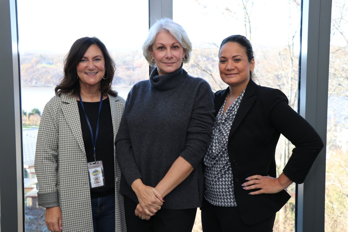 NECSD Assistant Superintendent for Curriculum and Instruction, Secondary Dr. Lisamarie Spindler, program principal Ms. Susan Valentino, and NECSD Director of Grants, Dr. Lynne Pampel.
