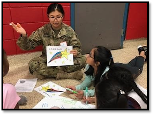 Cadet Anujin Gankhuyag explains how to use S.T.A.R. goals to build steps to reach a goal.
