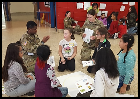 The girls reflected on and shared personal experiences with cadets about when communication worked and failed.