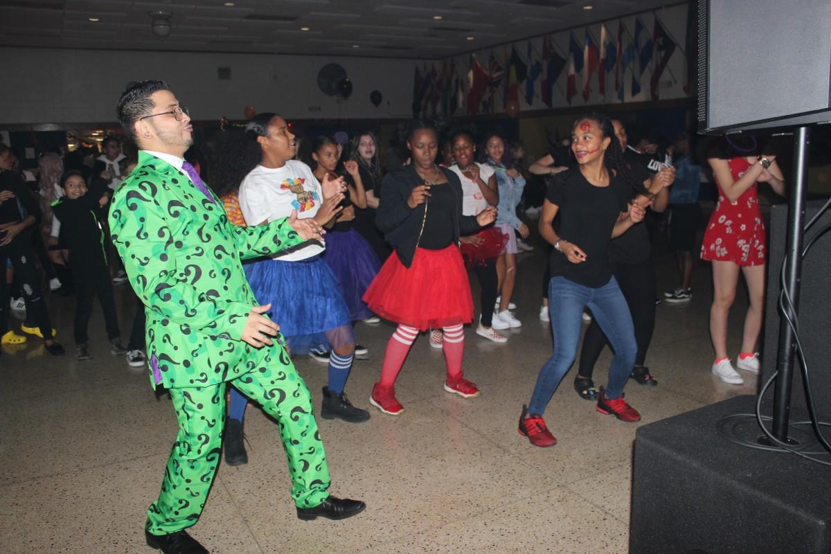 Participants on the dance floor.