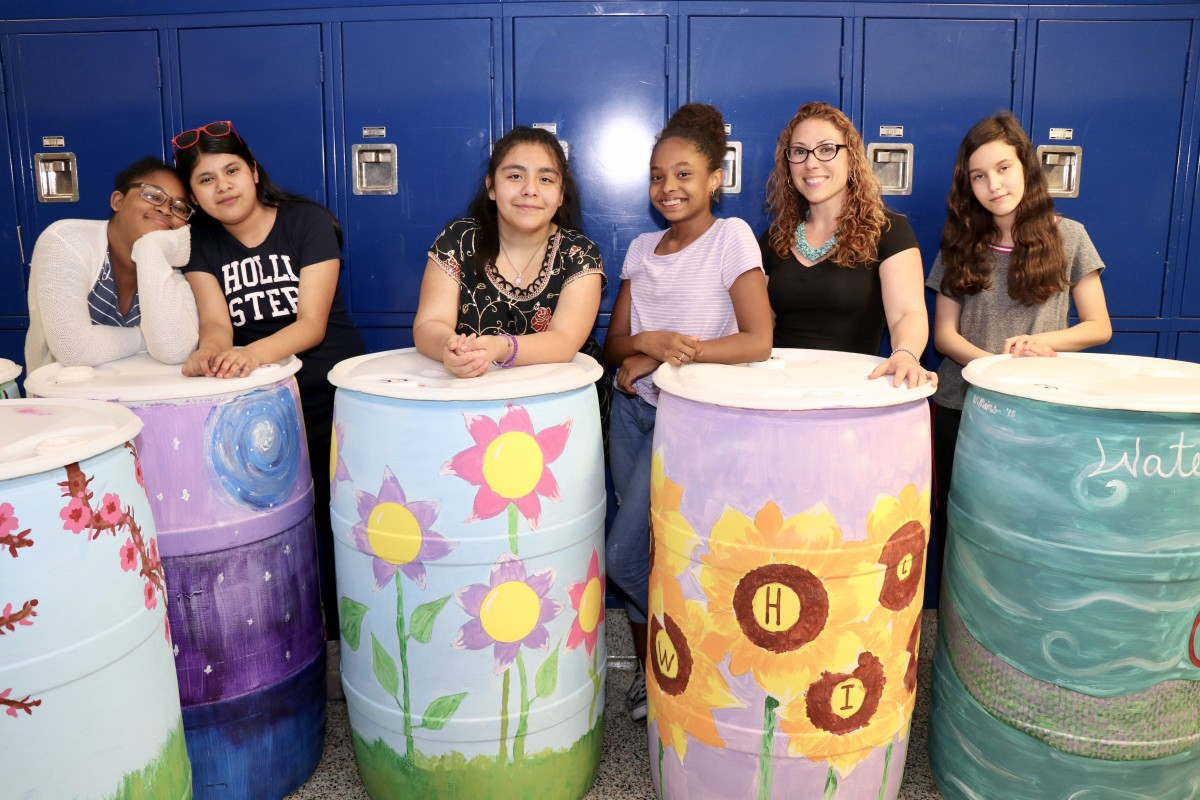 Thumbnail for Meadow Hill Mural Design Class Enter Rain Barrel Contest by Liberty Coca-Cola