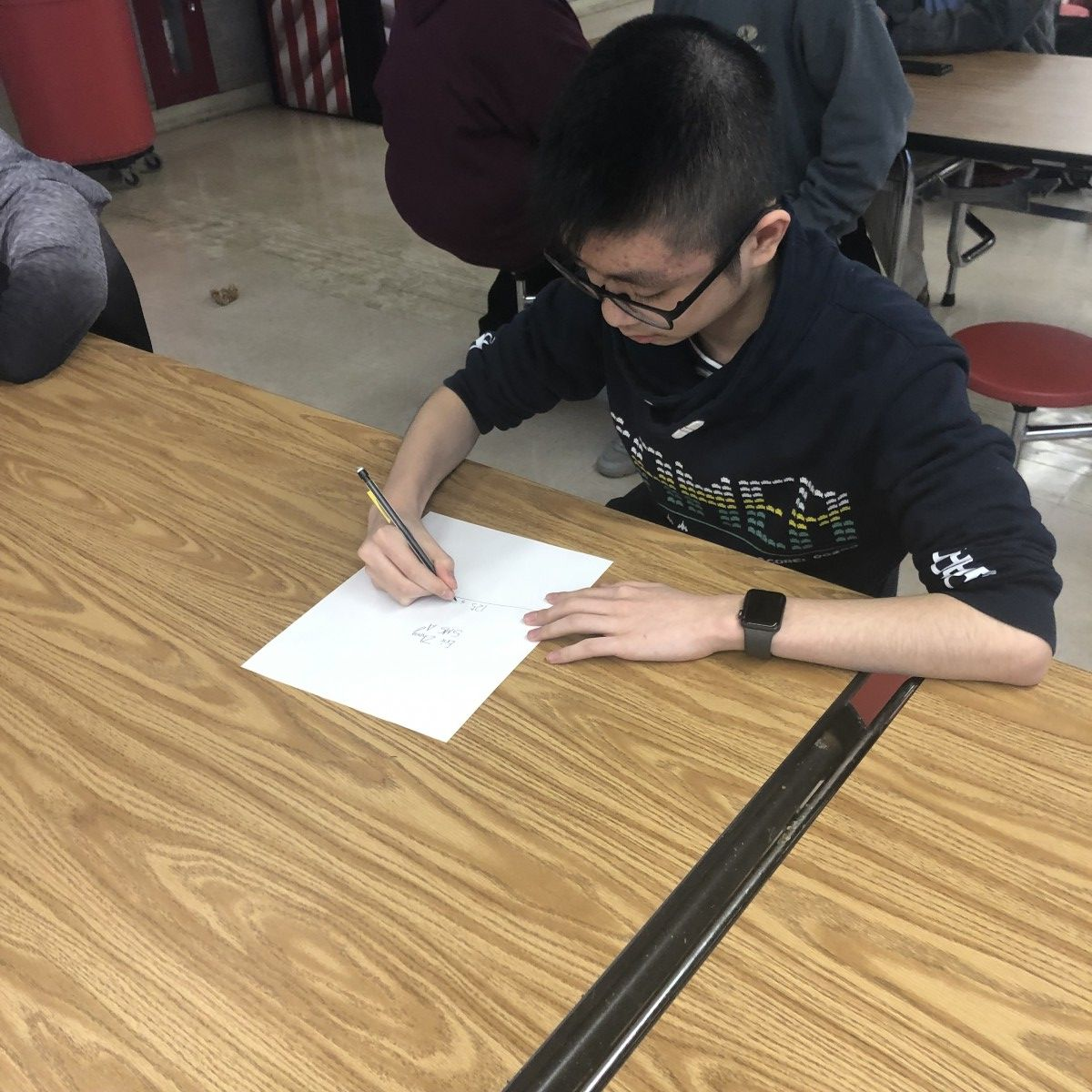 South Middle School's Eric Zheng, a 7th grade scholar received two individual awards.  He had the most points for questions participated in in the entire league of all four sections.     Eric also received the highest percentage correct answers in section A, with 76% correct.