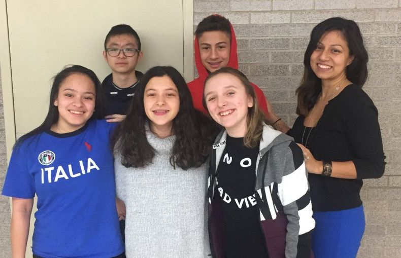 South Middle School – A Math Team members