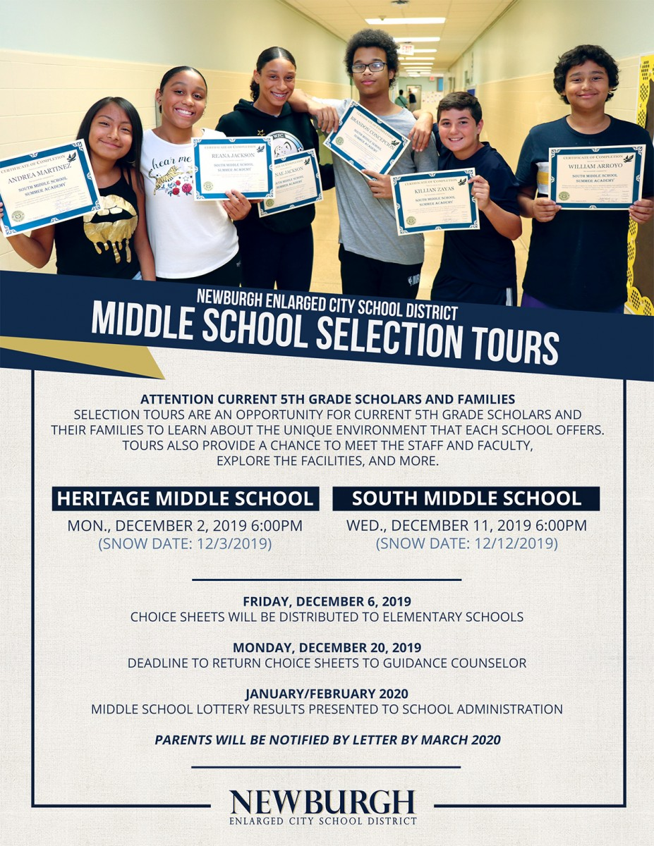 Thumbnail for Middle School Selection Tours Schedule