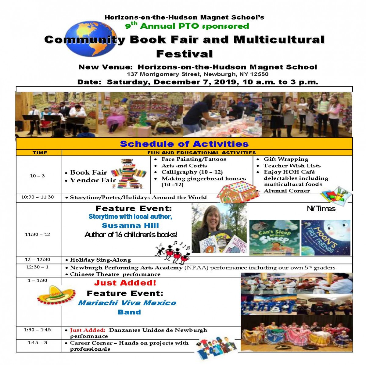 Thumbnail for HOH Book Fair & Multicultural Celebration Schedule of Activities