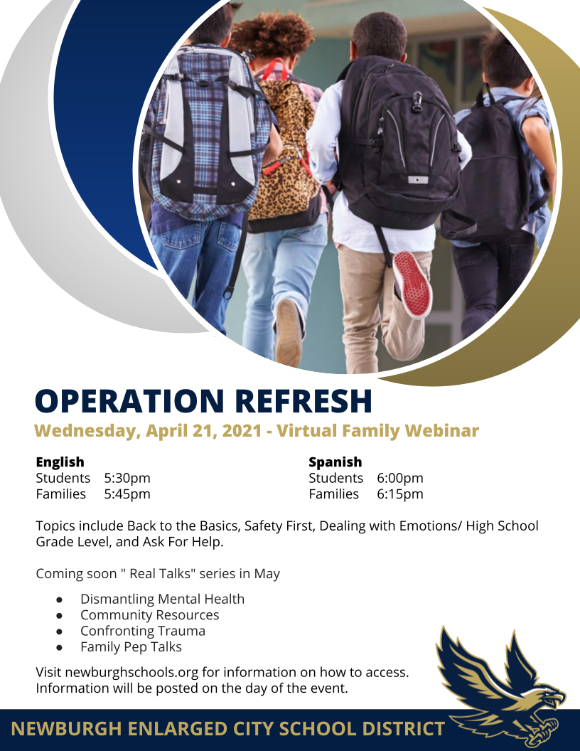 Thumbnail for OPERATION REFRESH - Virtual Family Webinar this Wednesday