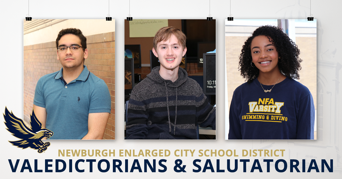 7682afc344128 Newburgh Free Academy is proud to announce Co-Valedictorians Martin Peticco  and Matthew Stridiron as Valedictorian and Sydney Reede as Salutatorian of  the ...