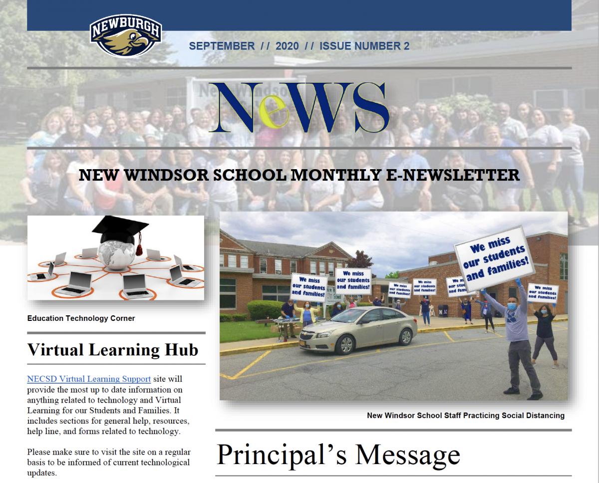 Thumbnail for New Windsor School September Newsletter