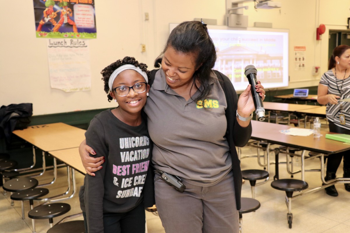 Thumbnail for South Middle School Hosts Breakfast for 6th Graders With Perfect Attendance Scholars!