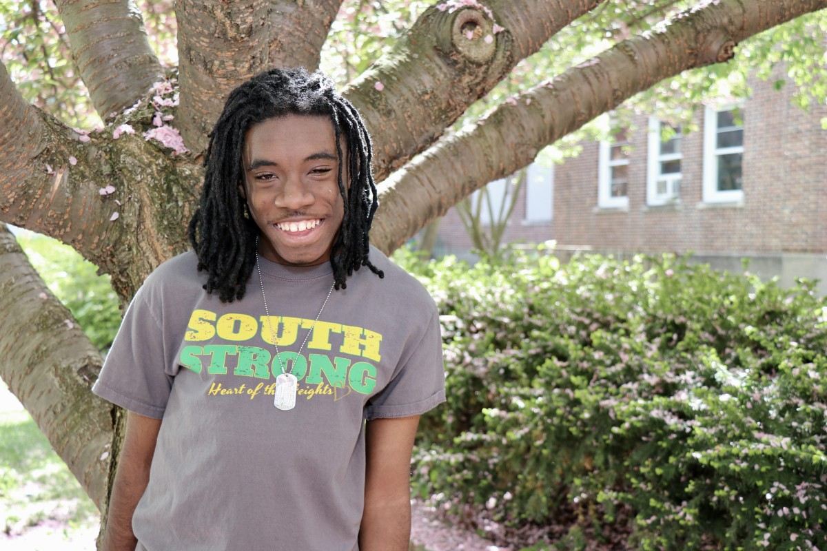 """Alex-Terrell Lewis, 8th grade """"I like to mow the grass and help with the garden. I like to rake and till the garden. My favorite veggie to grow is collard greens."""""""
