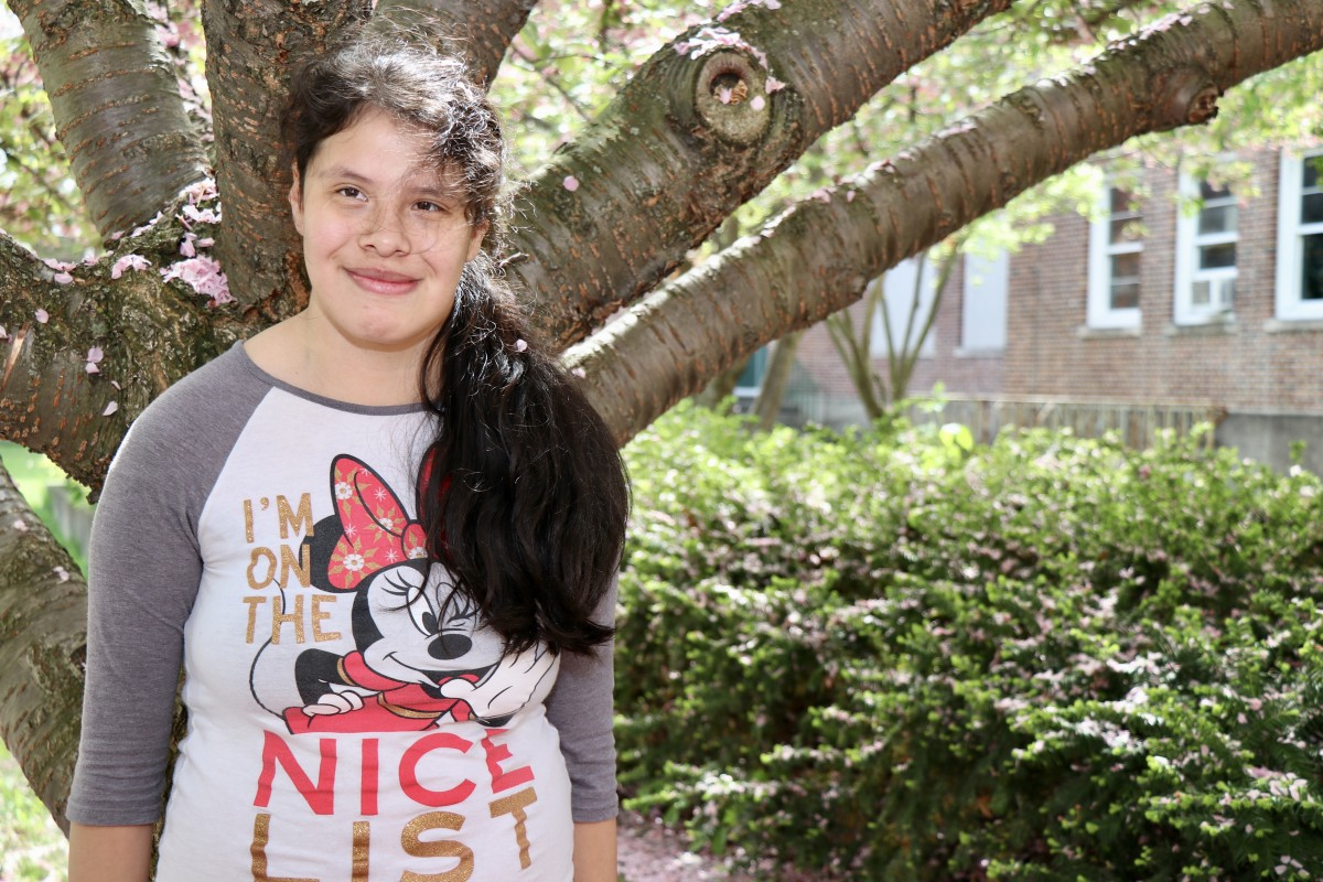 "Carol Zapotitla, 8th grade ""I like to go the park and go on the swings. And go to the beach to go swimming and playing."""