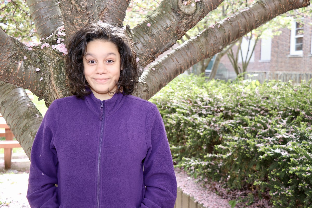 "Angelina Nieves, 7th grade ""I like to go swimming. That's the main thing I like to do. I go to the Newburgh pool."""