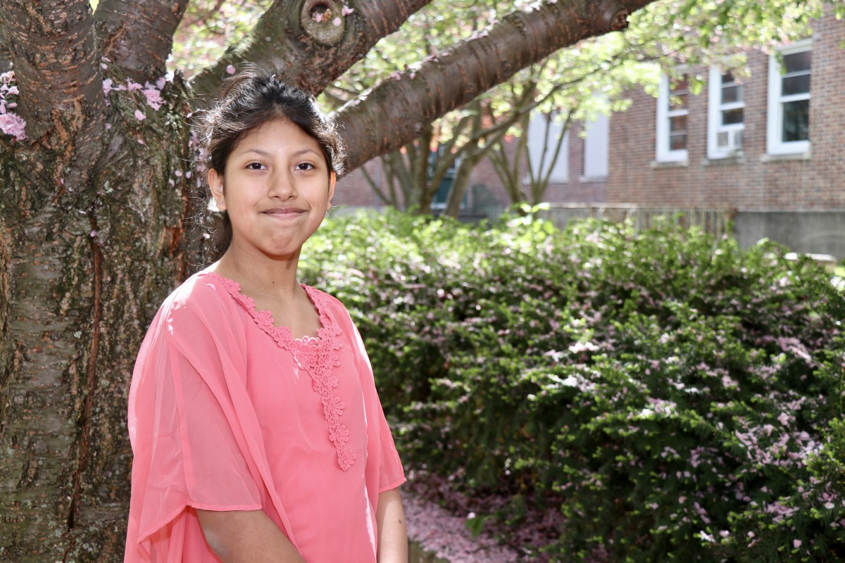 "Arletth Gailindo, 6th grade ""I like to go swimming and to go to the beach. And going in the hot tub! I also like sleeping."""