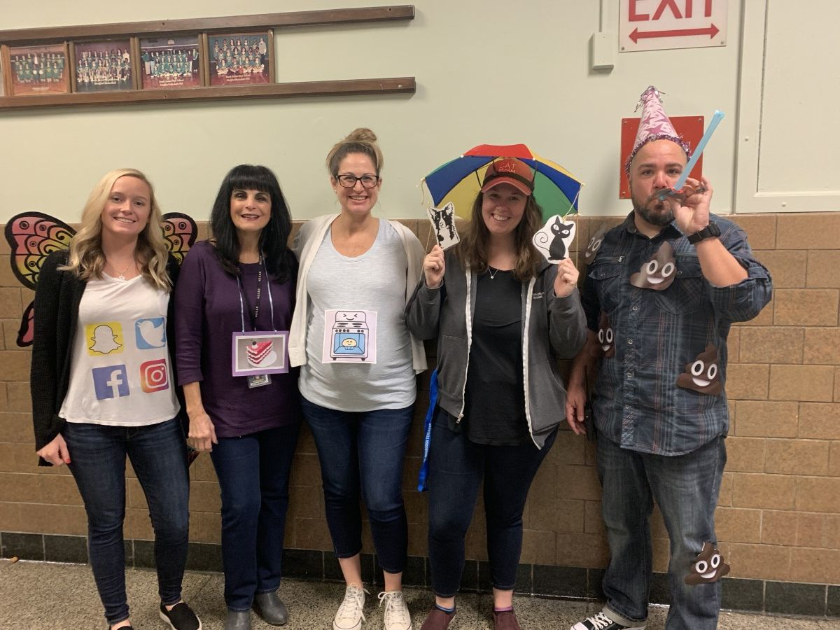 Thumbnail for Teachers at South Middle School Dressed as Idioms to Celebrate Halloween!