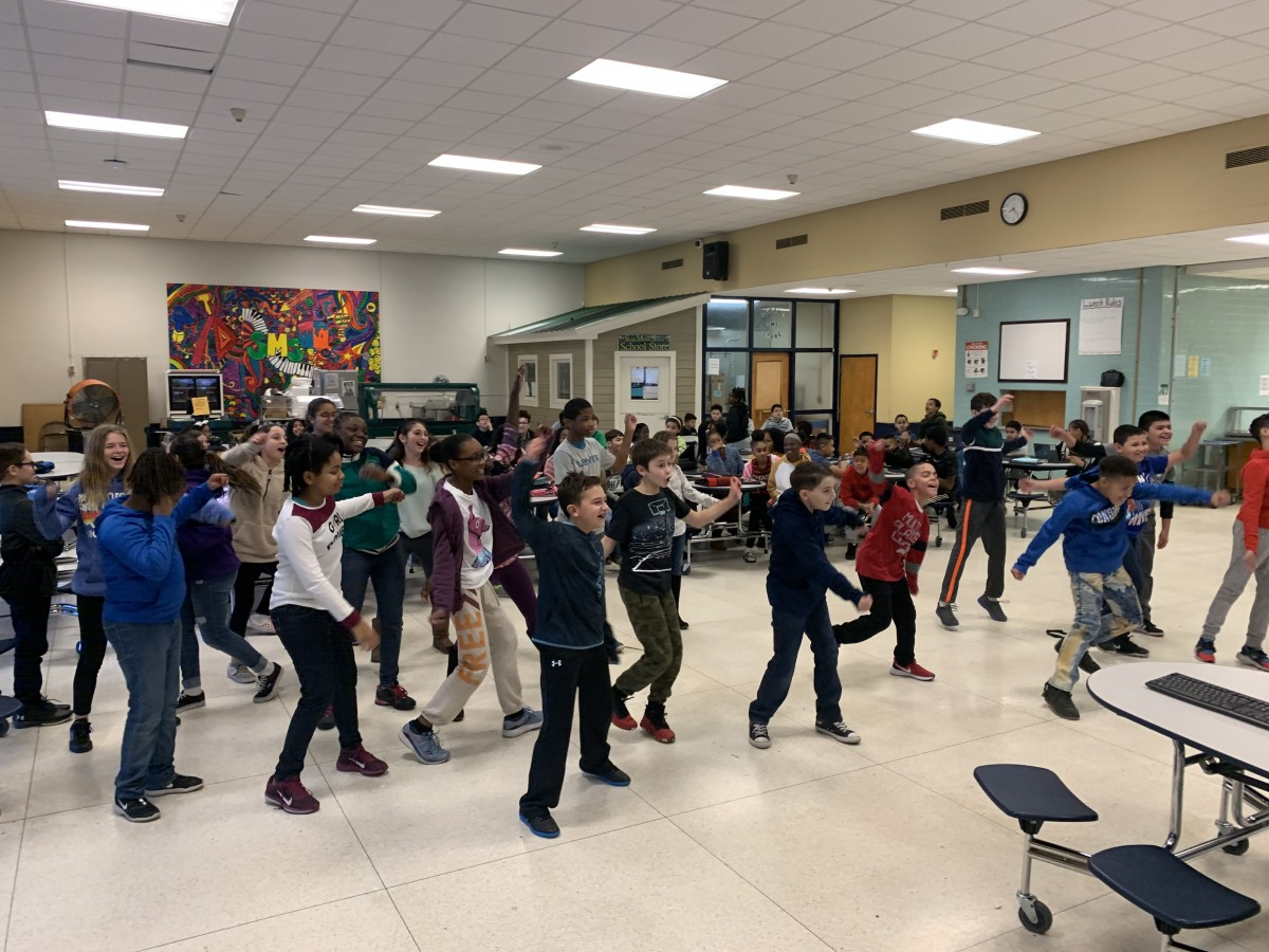 Thumbnail for South Middle School Perfect Attendance Scholars Celebrate with Just Dance Themed Party