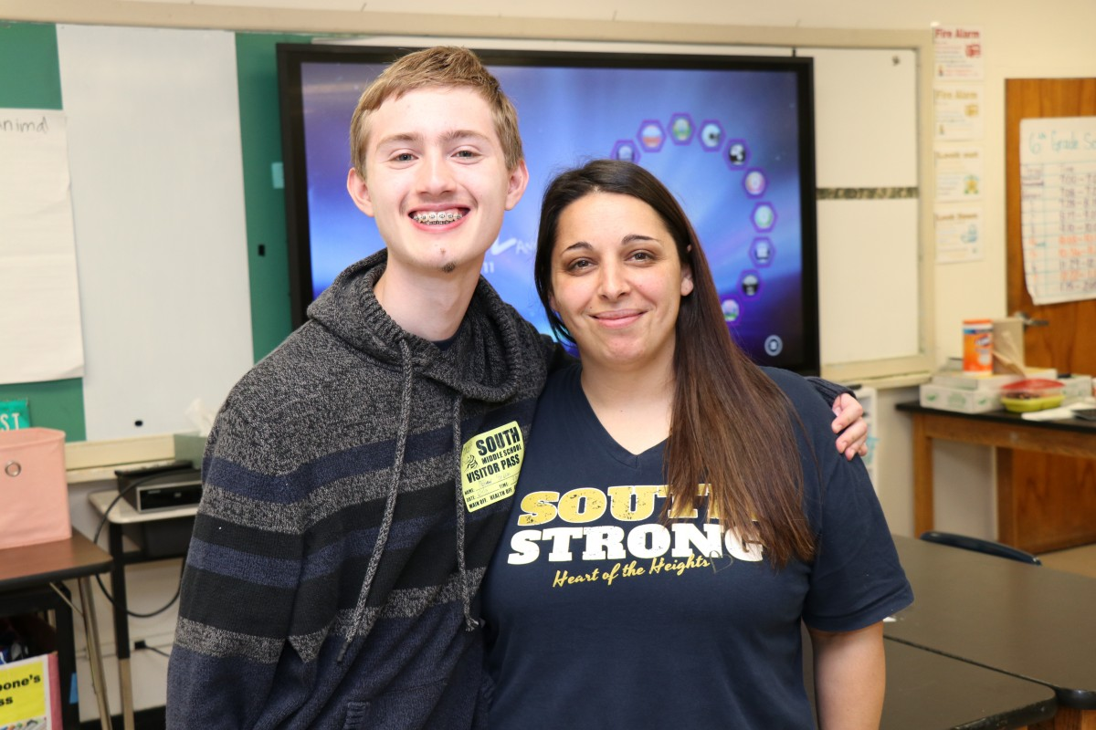 Matthew with Ms. Carbone.