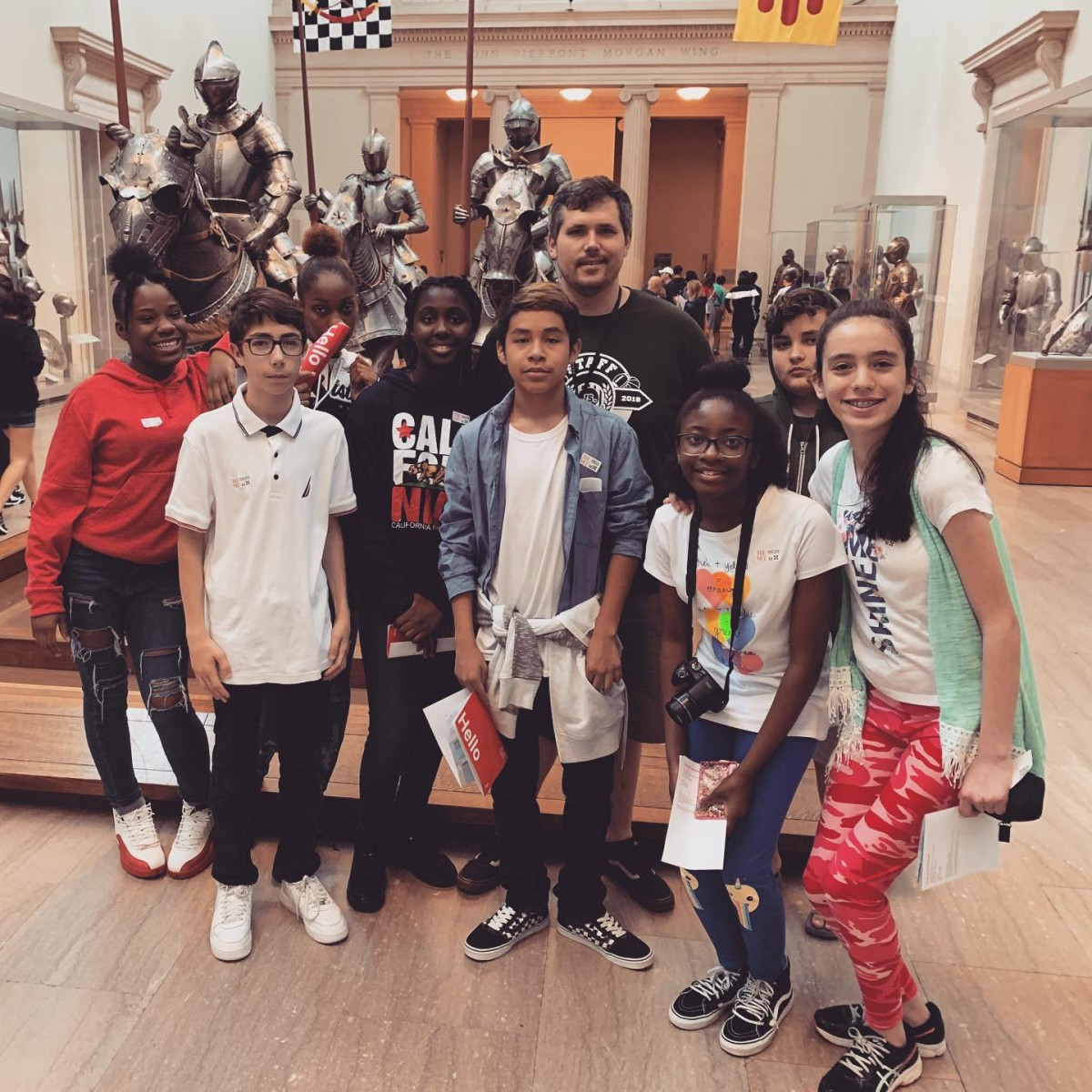 9828e8b11b Ms. Janice Greenop of South Middle School coordinated a trip to the  Metropolian Museum of Art for three groups of middle school scholars.