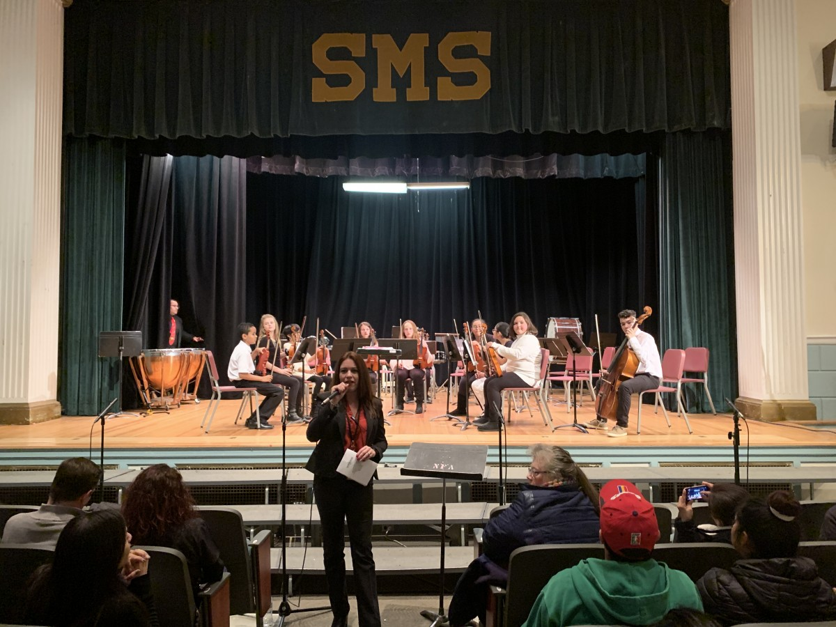 Students performing.