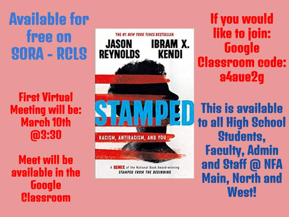 Thumbnail for NFA Library Announces Spring Book Club Selection: Stamped