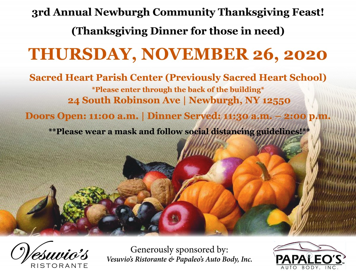 Thumbnail for 3rd Annual Newburgh Community Thanksgiving for Those in Need Scheduled for Thanksgiving Day