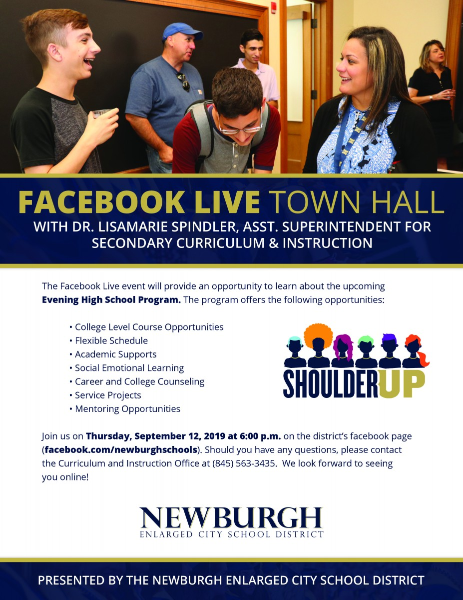 Thumbnail for Facebook Live Town Hall: New Evening School Program