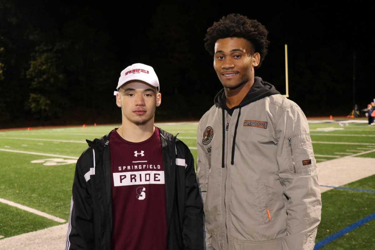 Members of the class of 2019 Gianni Hill (Springfield College) and Kameren King (SUNY Brockport).