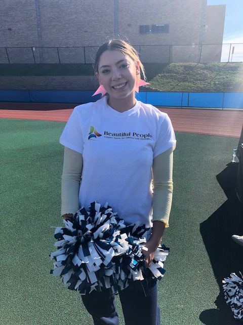 NFA Cheerleader poses for a photo.