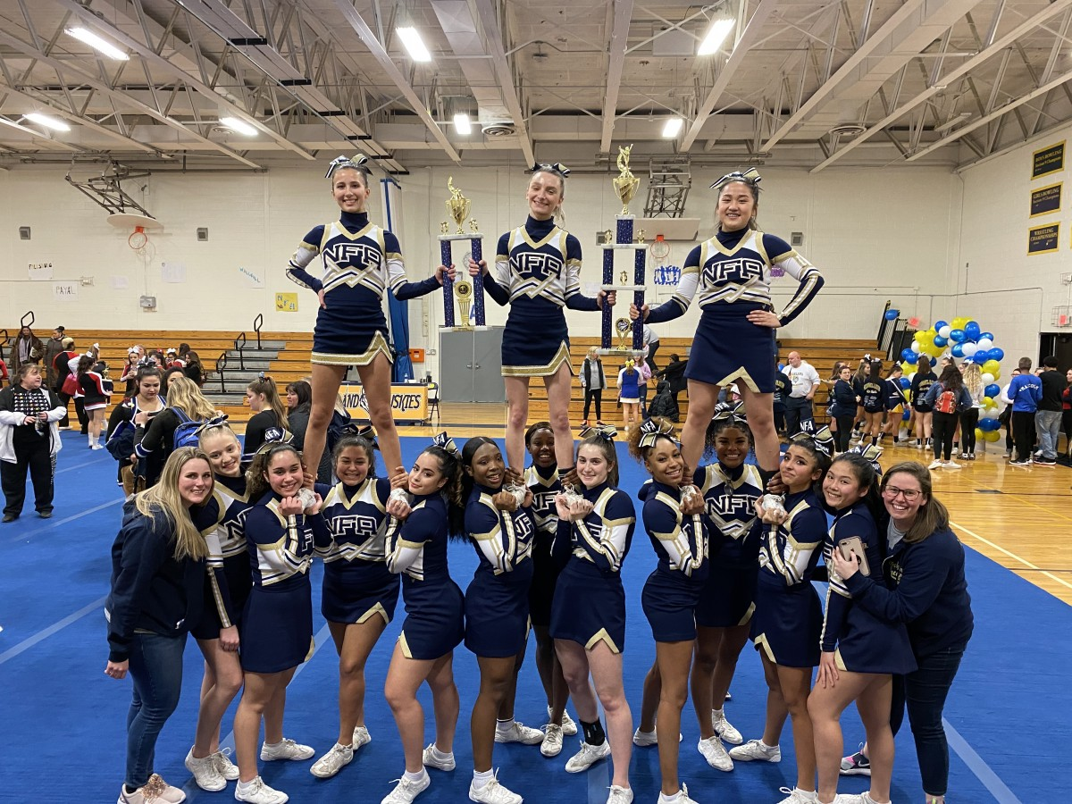 NFA Cheerleaders pose for a photo.