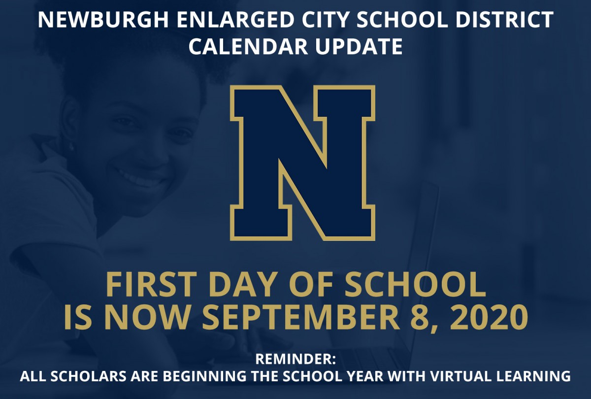 Thumbnail for Calendar Update - First Day of School is Now September 8, 2020