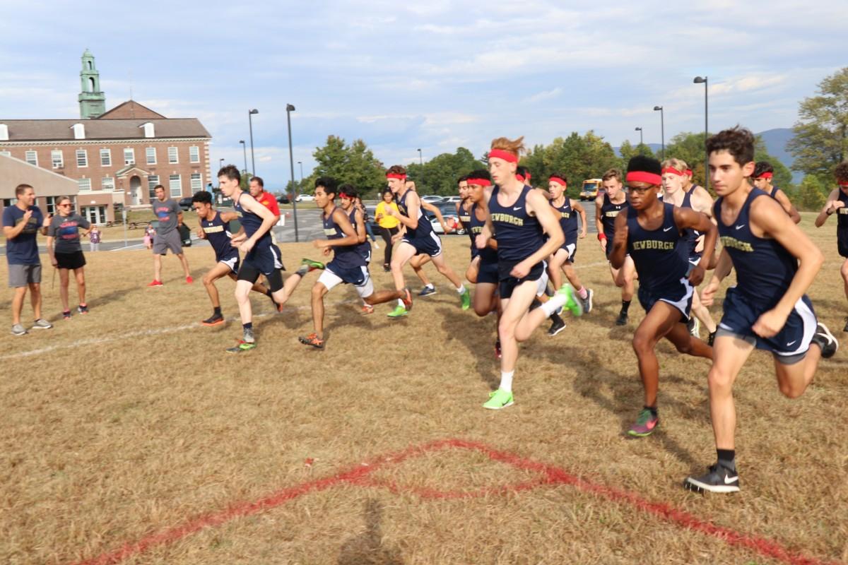 Athletes start their race.