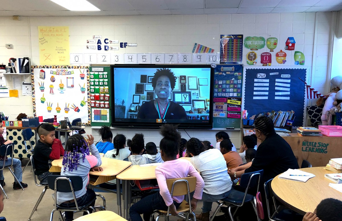 Thumbnail for Students participate in a Webinar with Award Winning Author Jacqueline Woodson
