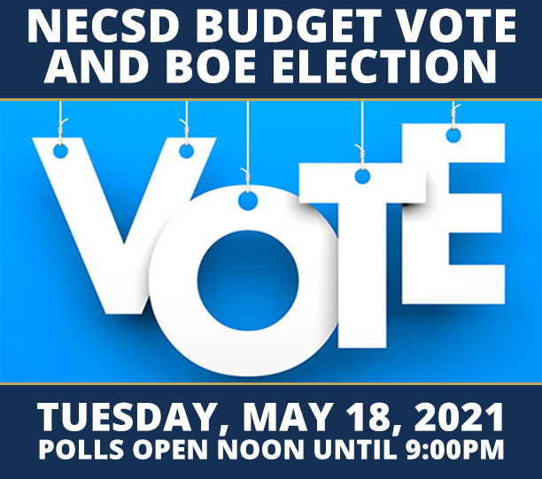 Thumbnail for REMINDER! NECSD Budget Vote and BOE Election - Tuesday, May 18th