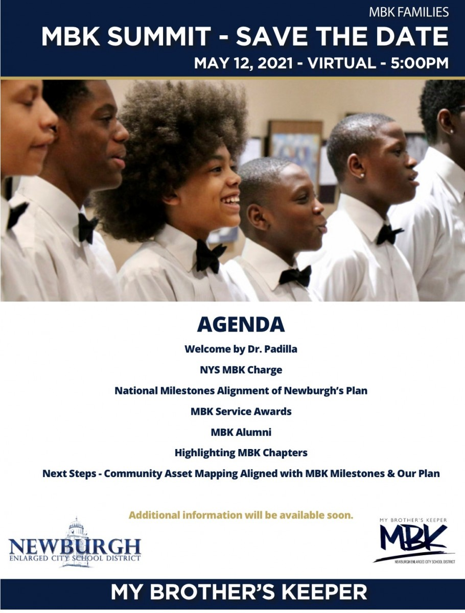 Thumbnail for UPDATED DATE! Save the Date! My Brother's Keeper (MBK) Summit