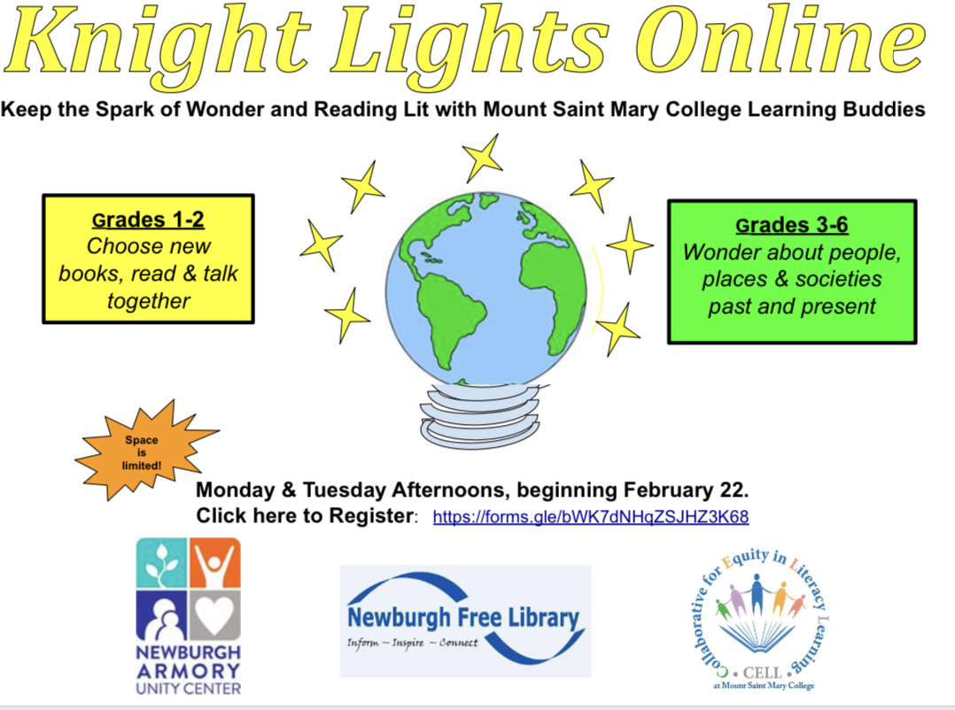 Thumbnail for Knight Lights:  Keep the Spark of Wonder and Reading Lit with Mount Saint Mary College Learning Buddies